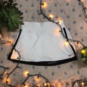 White Nike Tennis Skirt (with black outline)